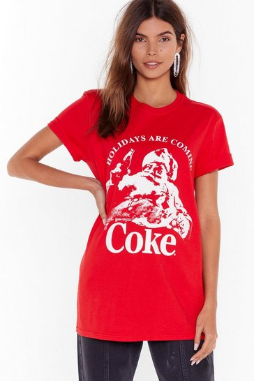 Red Holidays Are Coming Coke Graphic Tee