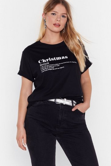 Black The Definition of Christmas Graphic Tee