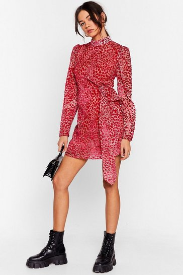 Pink Wild About It Leopard Mini Dress