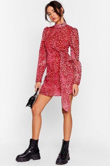 Pink Wild About It Leopard Mini Dress
