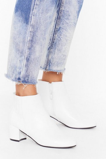 White Croc to My System Faux Leather Ankle Boots