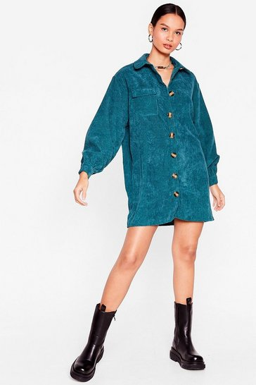 Teal The Easy Way Out Corduroy Shirt