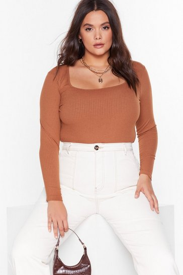 Camel Get Those Angles Square Neck Top