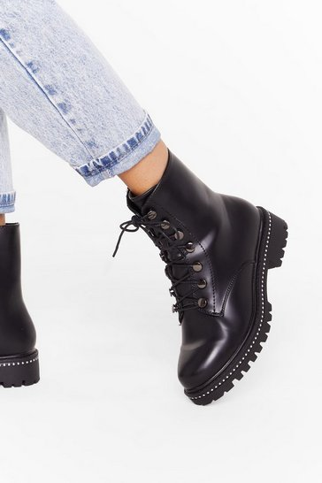Black Stud Girls Gone Bad Biker Boots