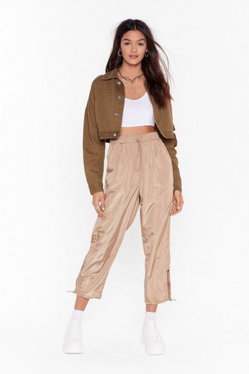 Tan Glow Them How It's Done Utility Pants