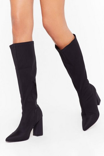 Black We've a Point to Prove Knee-High Boots
