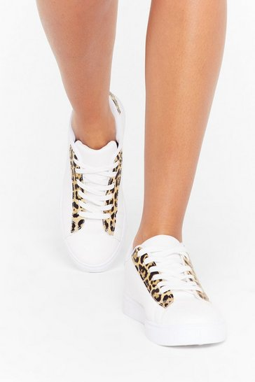 Womens White Prowlin' Around the Streets Lace-Up Sneakers