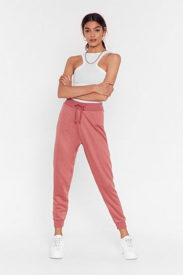 Womens Rose On the Run High-Waisted Joggers