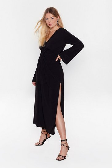 Black Twistin' the Night Away Plus Maxi Dress