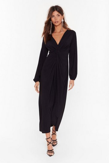 Black Are You Ready for the Plot Twist Maxi Dress