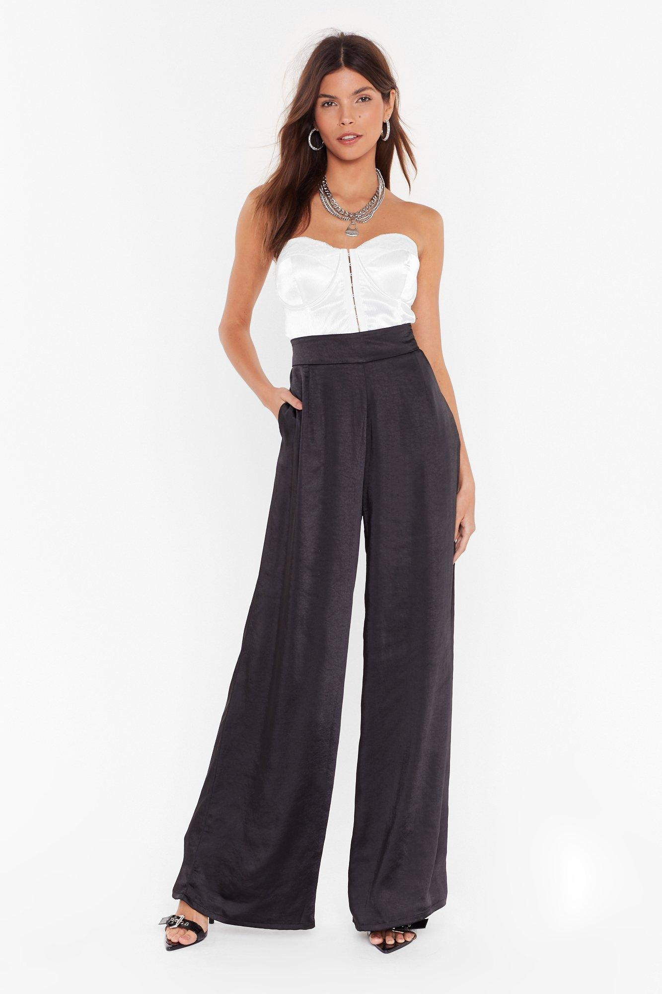 Studio Balloon Trouser In Satin by Nasty Gal