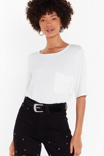 White Just Chill Oversized Tee