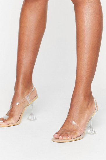 Nude Faux Leather Strappy Stiletto Heels