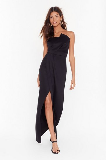Black A Night to Remember Strapless Maxi Dress