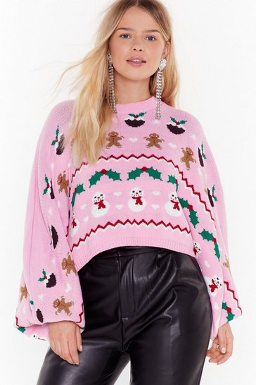 Pink There's Snow-one Like Me Plus Christmas Sweater