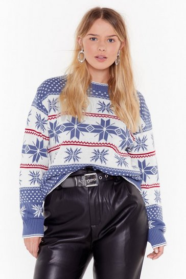 Womens Navy Tis the Season Christmas Fair Isle Sweater