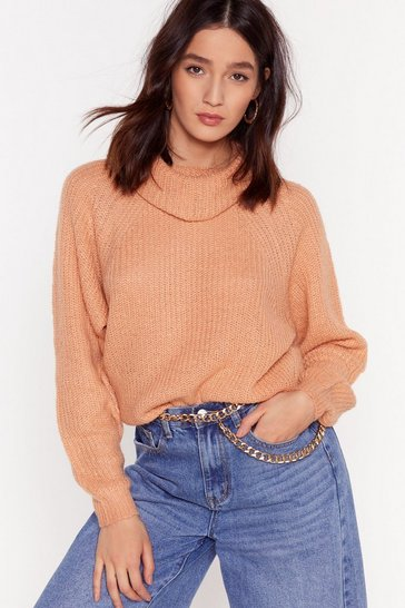 Camel Honor Roll Relaxed Turtleneck Jumper