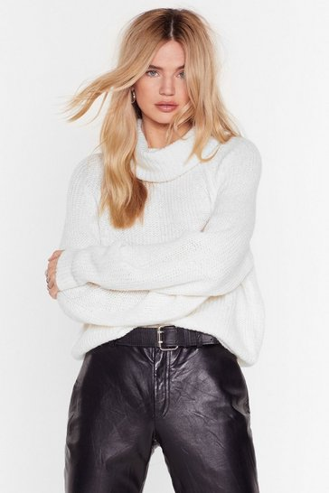 Ivory Honor Roll Relaxed Knit Sweater