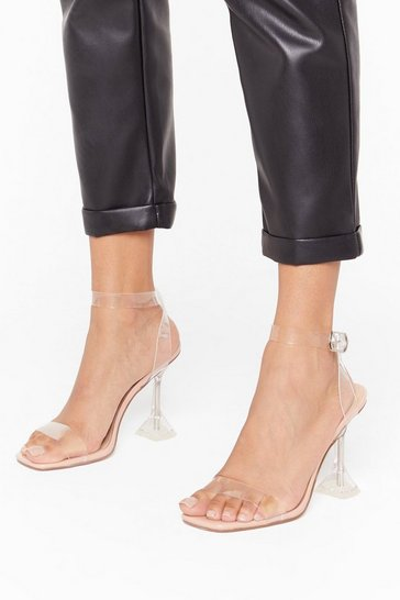 Womens Nude Faux leather louis perspex L.B.C