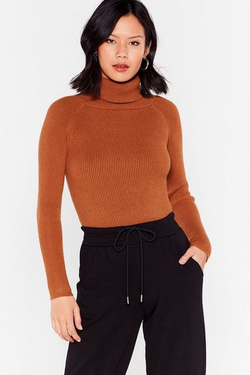Chocolate Knit's Yours For the Takin' Turtleneck Sweater