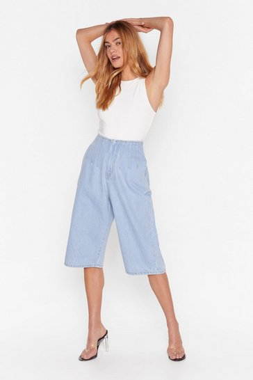 Light blue Take the Longline Way Home Denim Shorts