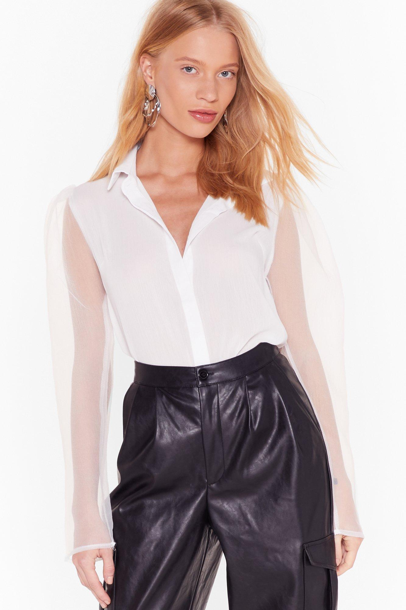 Sheers To Change Organza Sleeve Shirt by Nasty Gal