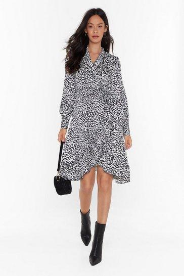 Black Spirit of the Wild Leopard Midi Dress