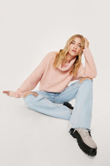 Blush Oversize Up the Competition Sweater