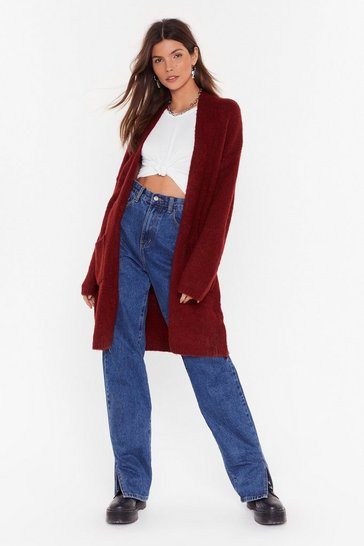 Rust Knit's Not Been Longline Cardigan
