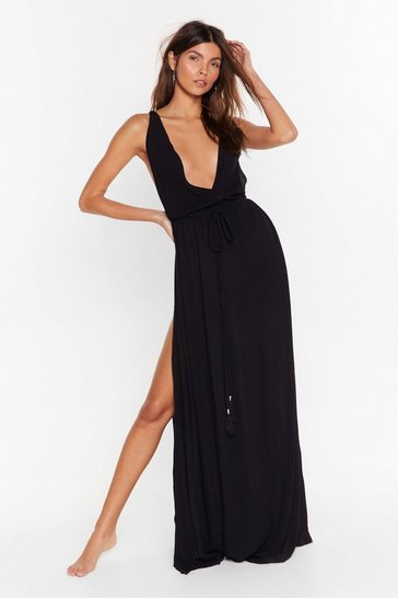 Black Beach You to It Cover-Up Maxi Dress