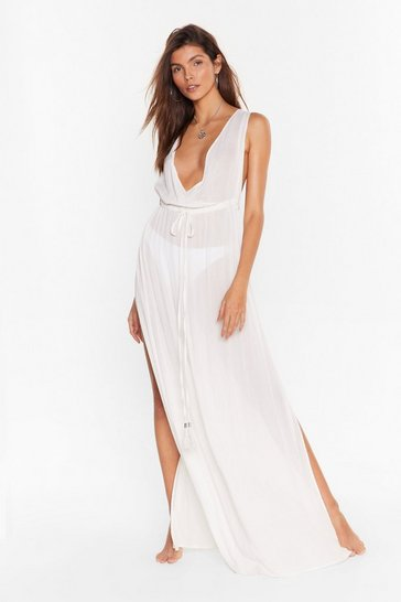 Cream Beach You to It Cover-Up Maxi Dress