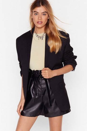 Black Tailored Boyfriend Blazer