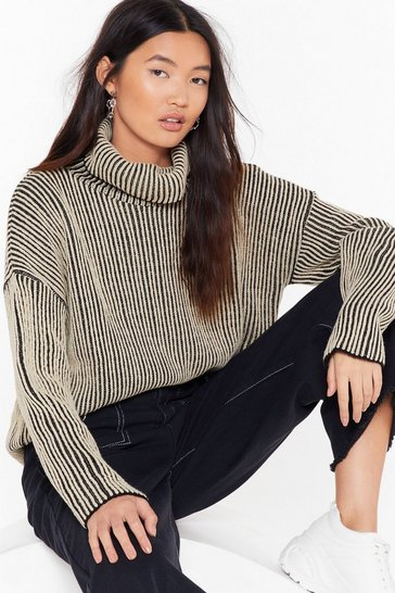 Stone Stripe and Wrong Turtleneck Sweater