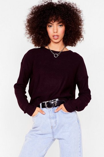 Oxblood Never Crew How Much Knitted Sweater