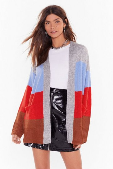 Red We've Seen Your True Colors Knit Longline Cardigan