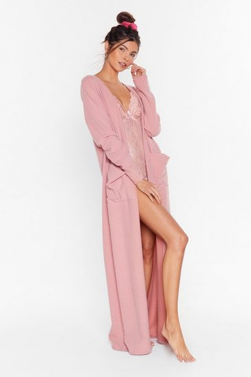 Rose Recycled Such a Softy Longline Cardigan