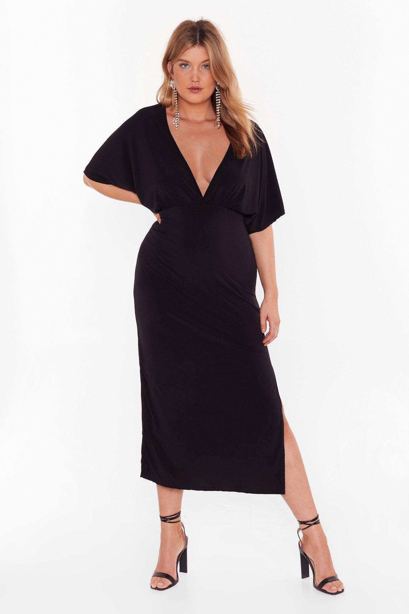 Take V Out Plus Maxi Dress by Nasty Gal