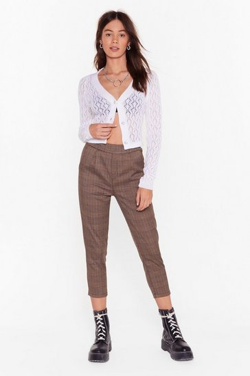 Womens Brown check tailored trouser