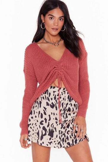 Womens Blush Pull a Fast One Relaxed Knit Sweater