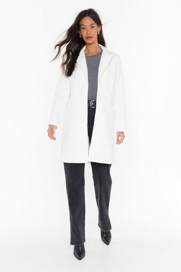 Womens Cream Under Cover Longline Coat