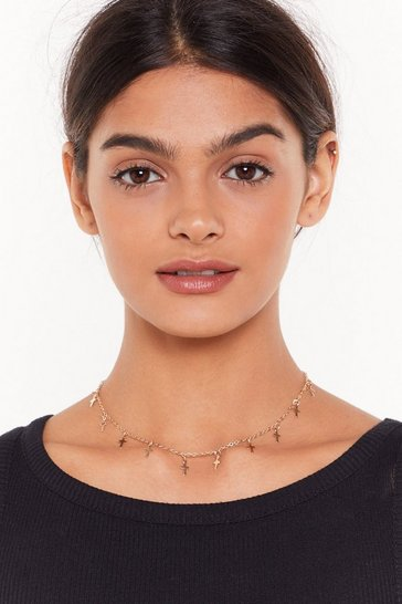 Womens Gold You the Cross Dainty Chain Necklace