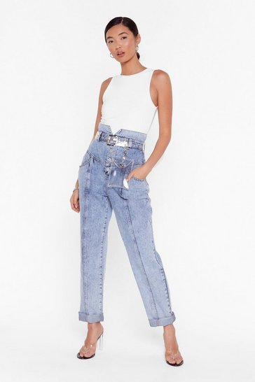 Stonewash Haven't Seam the Last of Me Denim Mom Jeans