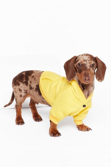Womens Yellow It's Been a Ruff Day Dog Hoodie