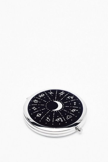 Womens Navy Time to Reflect Zodiac Compact Mirror