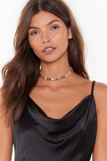 Gold Born to Be a Star Choker Necklace
