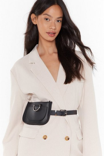 Black Pu belt bag