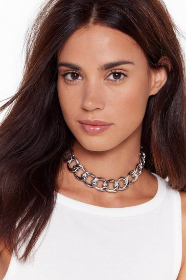 Silver Chain-ge the Rules Chunky Chain Necklace