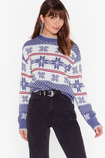 Navy Tis the Season Fair Isle Christmas Sweater