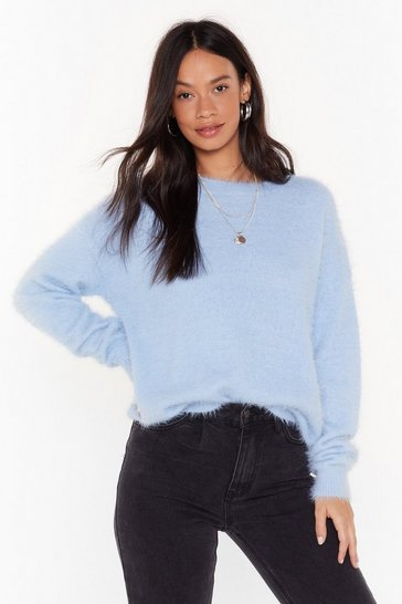 Baby blue Had Knit All Crew Neck Sweater