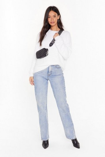 White Had Knit All Crew Neck Sweater
